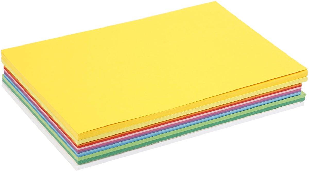 Voorjaars karton, A4 210x297 mm, 180 gr, 300 div vellen, diverse kleuren kopen