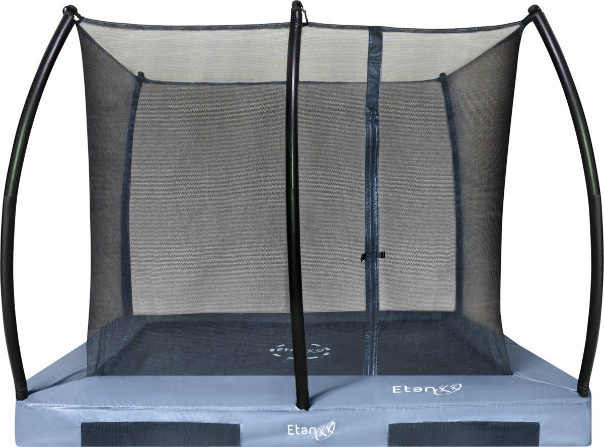 Etan Inground Hi-Flyer Combi Trampoline set  310 x 232 cm - inc. Veiligheidsnet - Grijs - Rechthoekig - Zeer veilig