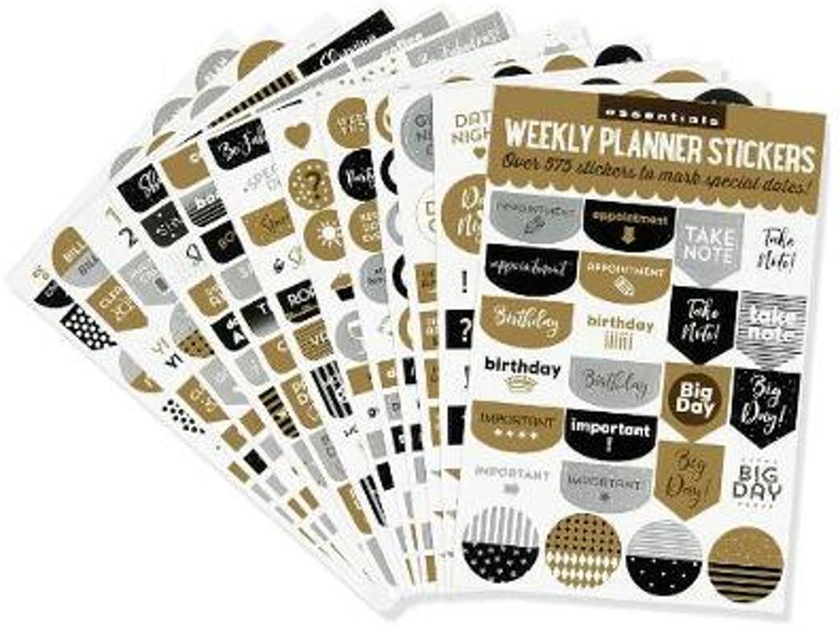Afbeelding van product Planner Stickers Blk/Gold