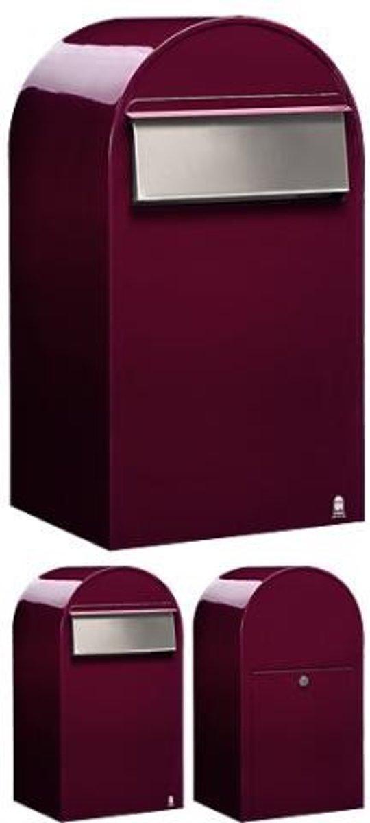 Brievenbus Bobi Grande B Bordeaux Rood / RVS Klep