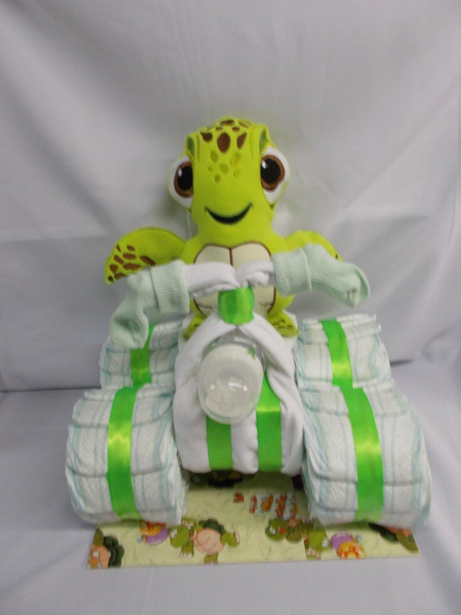 pampertaart Quad schildpad groen kopen