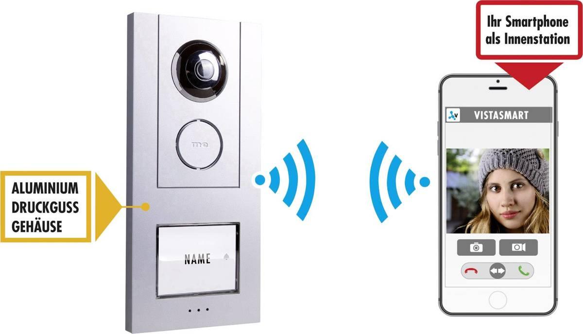 m-e VS-10 Aluminium Wi-Fi deurbel met camera kopen