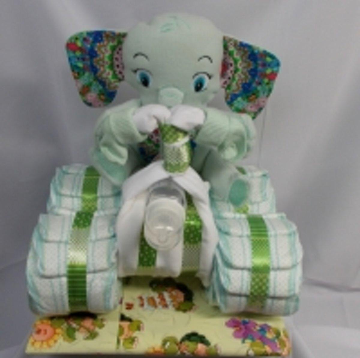 pamper quad olifant licht groen kopen