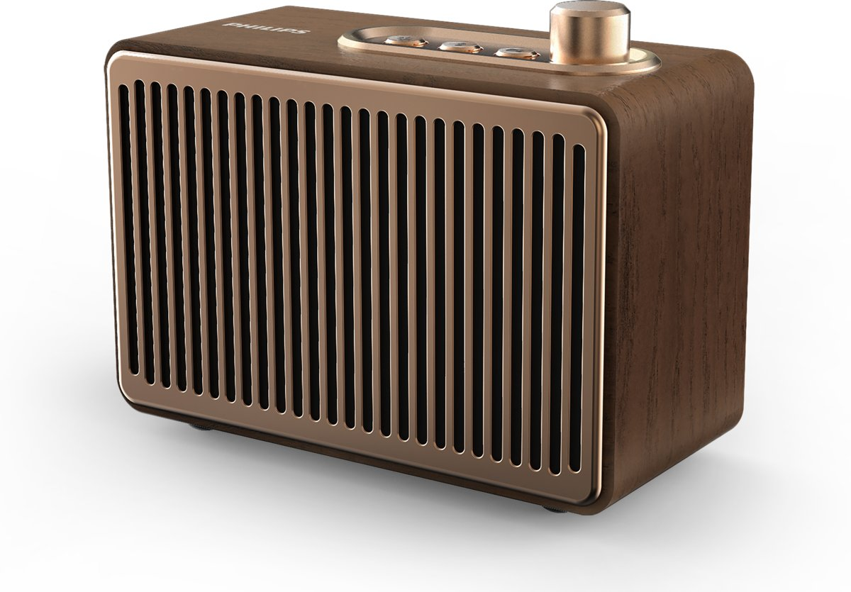 Philips VS300 - Vintage Bluetooth Speaker - Bruin kopen