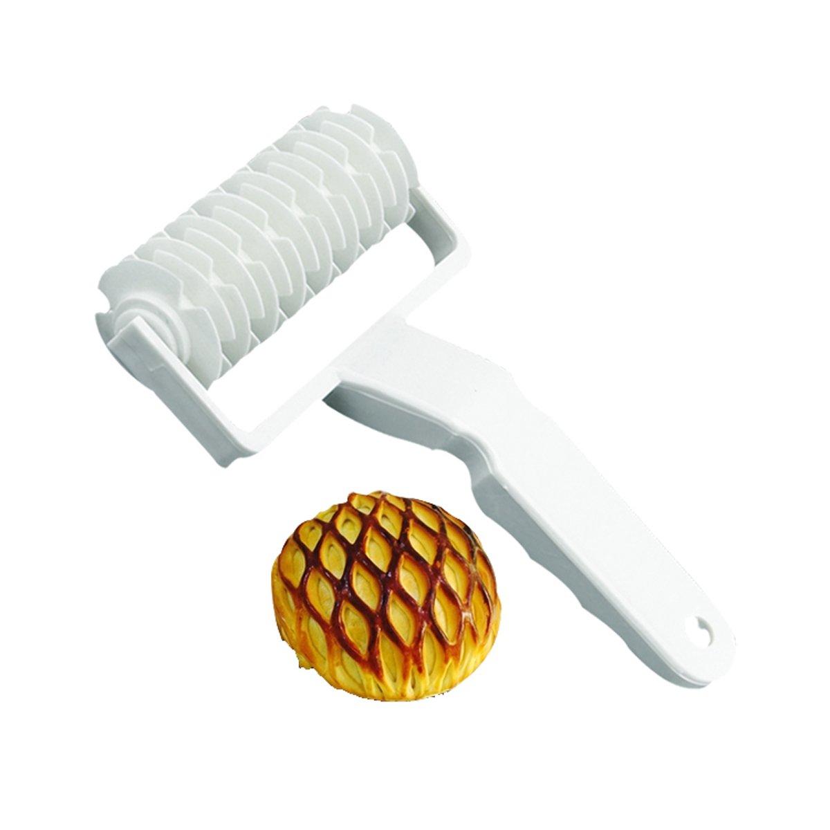 Deegsnijder - Rasterroller - deegroller - Taart/koekjes maker - 12cm breed kopen