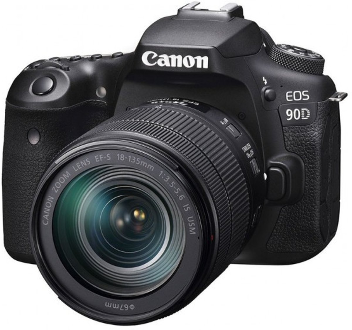 Canon EOS 90D + EF-S 18-135mm f/3.5-5.6 IS USM - Zwart