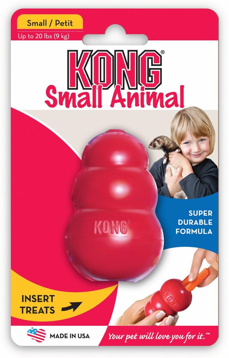 Kong speeltje classic S kleine dieren rood