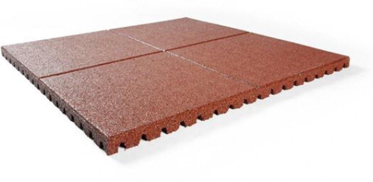 Intergard rubberen tegels rood 1000x1000x25mm (prijs per m2) kopen