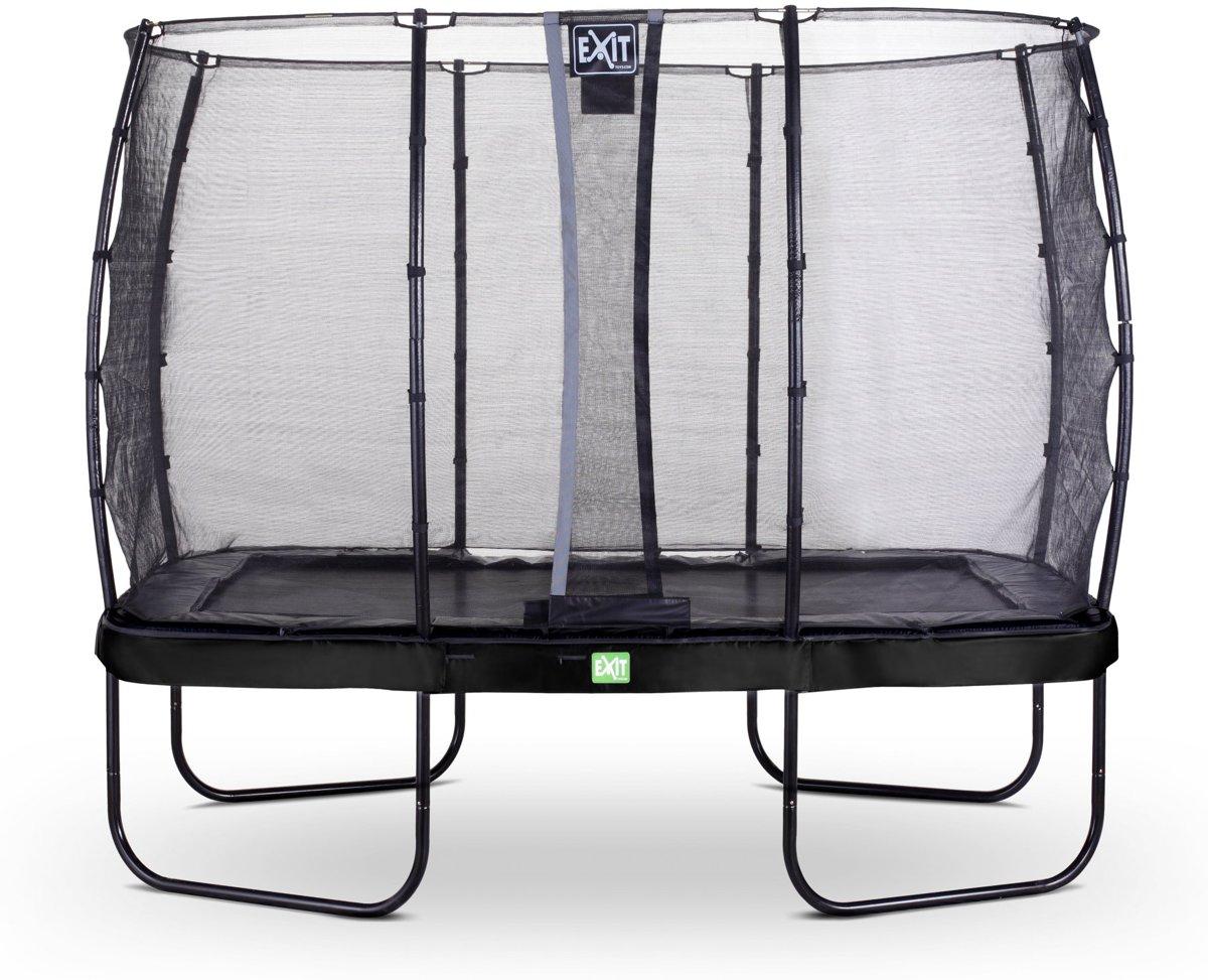 EXIT Elegant trampoline 214x366cm met veiligheidsnet Economy - zwart