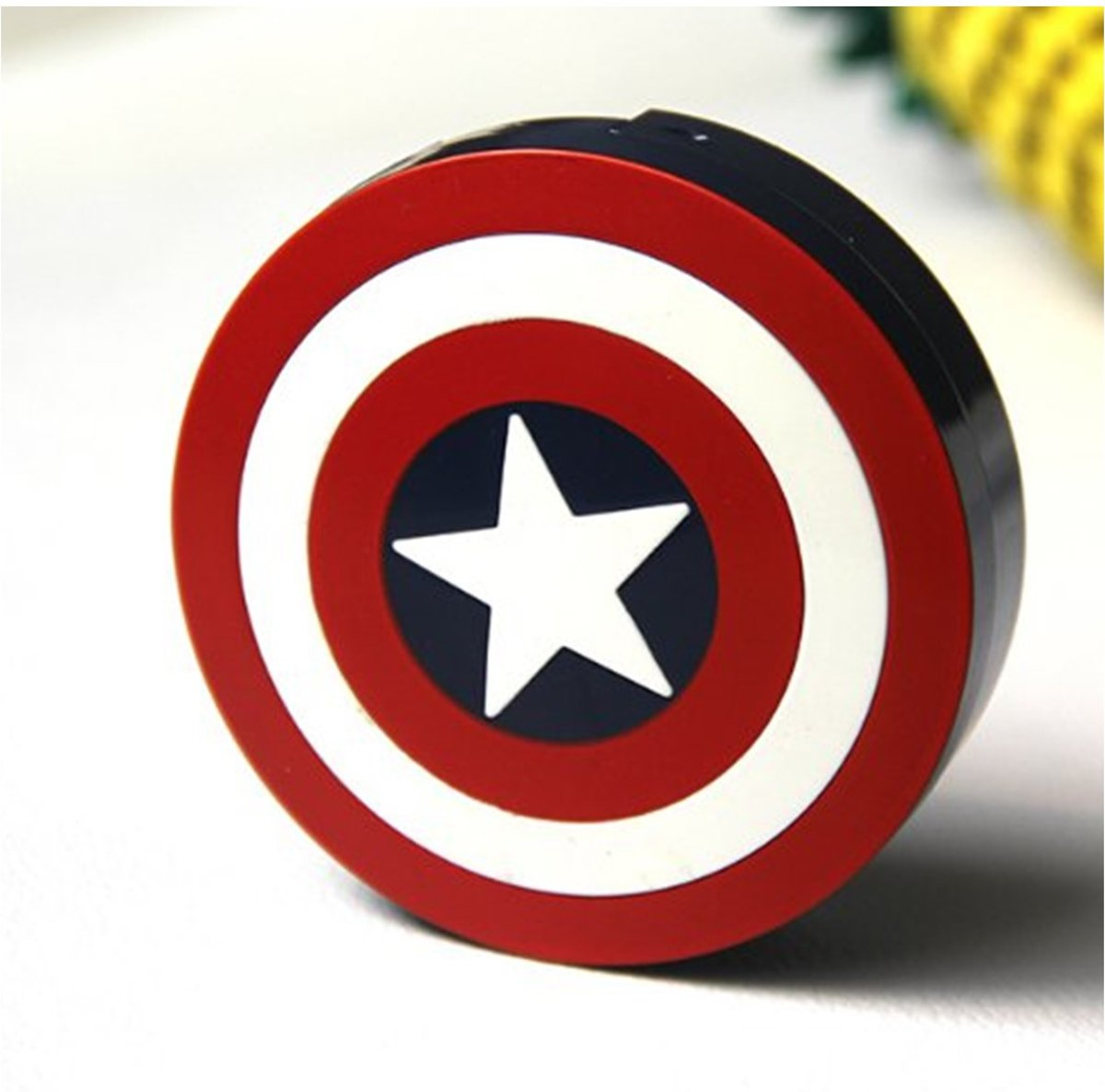 Foto van Captain America | Lenzendoosje Met Spiegel| Lenzenhouder | Lenzenbakje | Avengers | 5-delig
