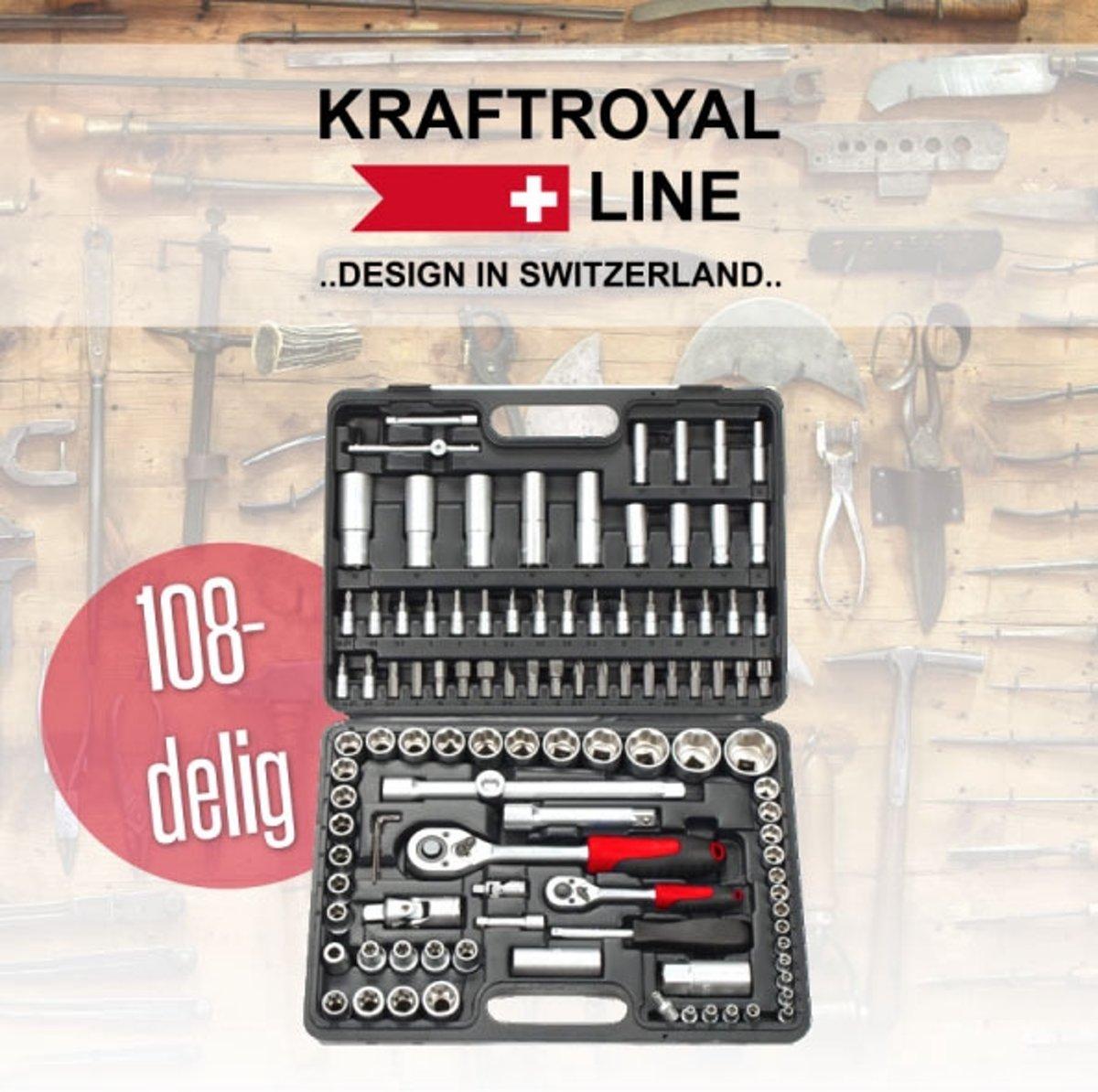 Kraft Royal Line 108-delige gereedschapsset