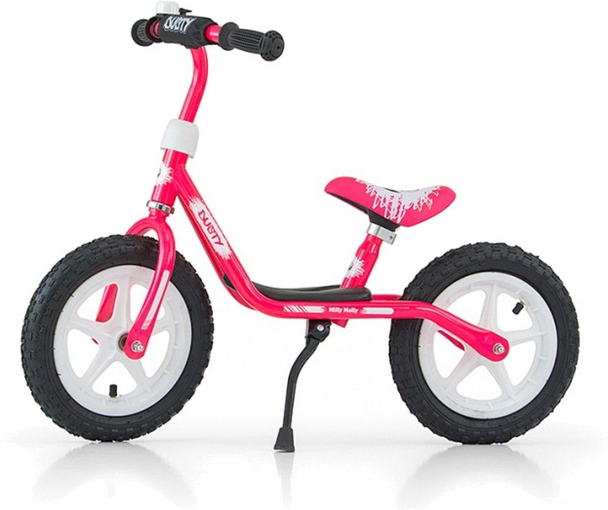 Milly Mally Loopfiets Dusty - Loopfiets - Jongens en meisjes - Roze,Wit - 12 Inch