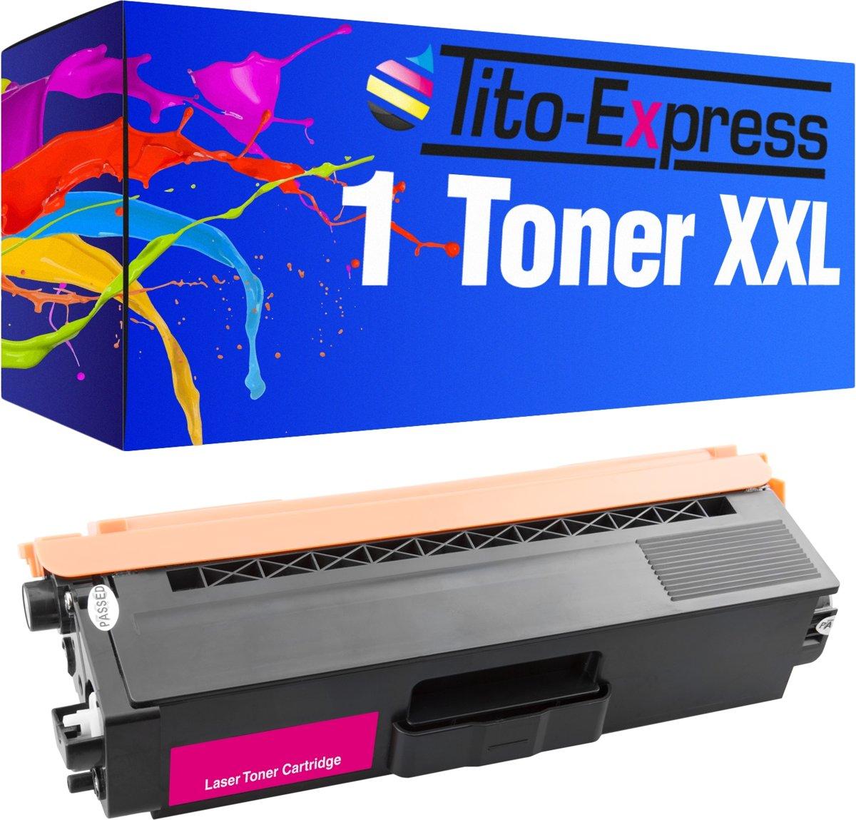 Tito-Express PlatinumSerie PlatinumSerie® 1 XXL tonercartridge voor brother TN-325 magenta Brother DCP-9055 CDN / DCP-9270 CDN / HL-4100 Series / HL-4140 CN / HL-4150 CDN / HL-4500 Series / HL-4570 CDW / HL-4570 CDWT / MFC-9460 CDN / MFC-9465 CDN / kopen