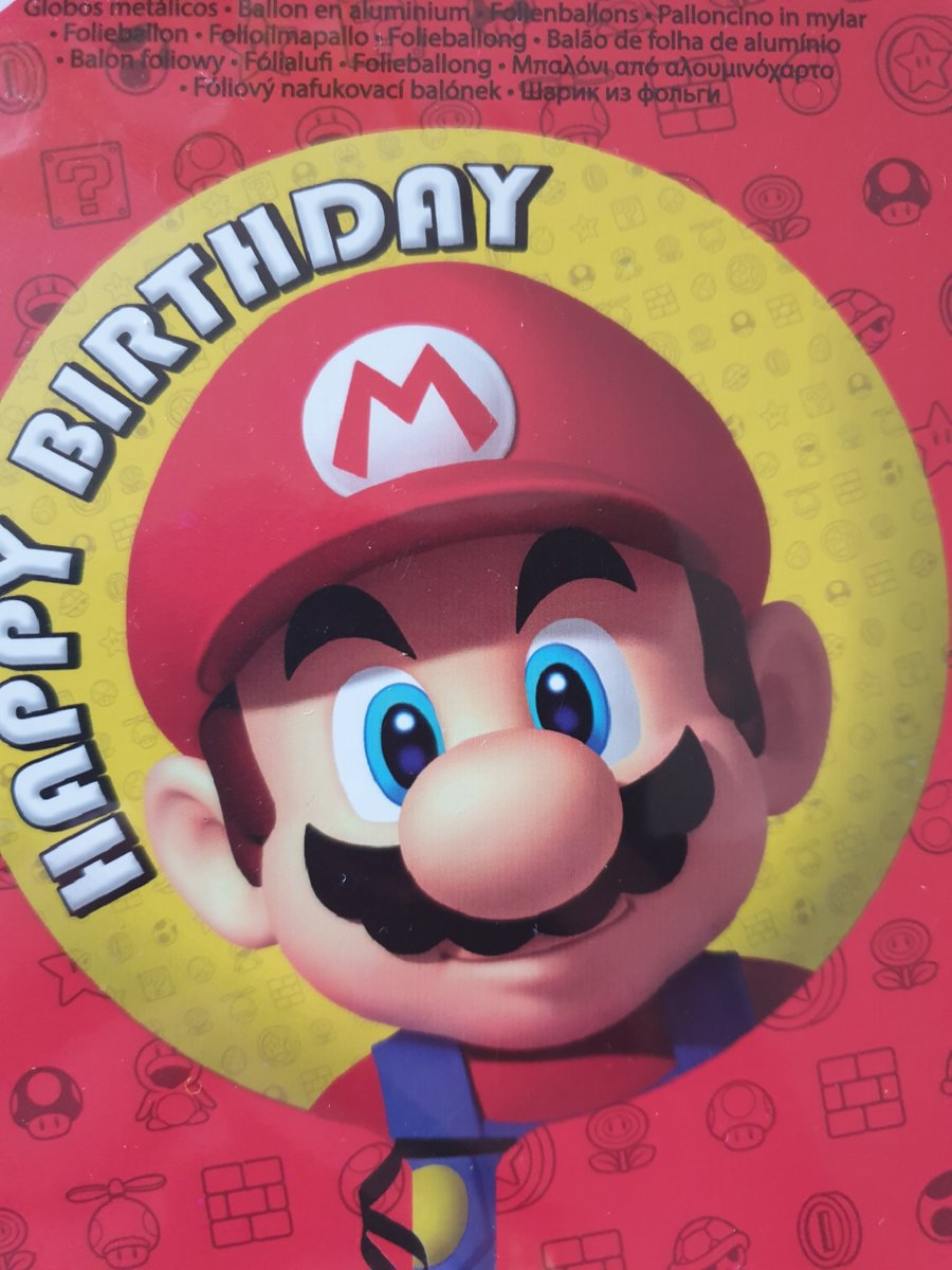 Afbeelding van product Folie ballon Mario Bros (gevuld met helium)