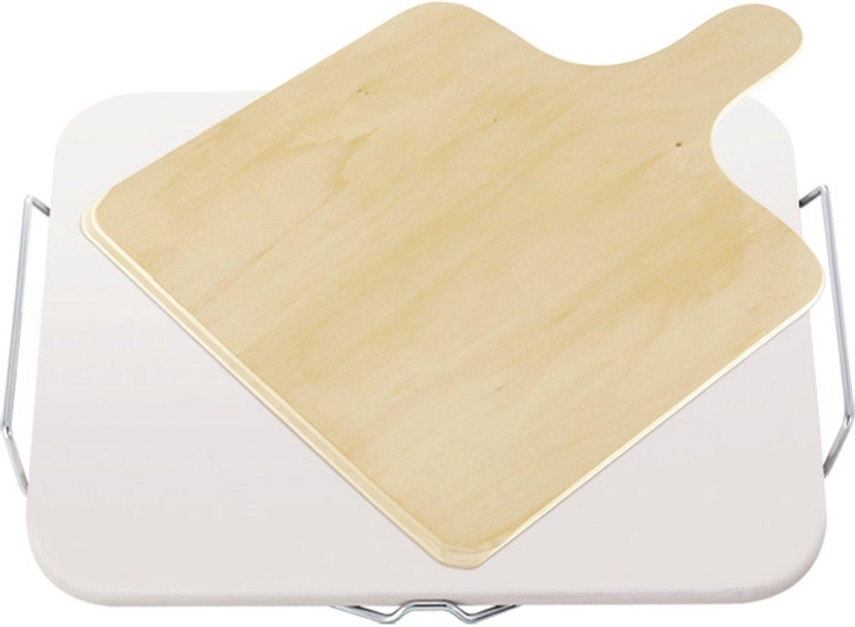 Leifheit - Pizzasteen vierkant met houten schep kopen