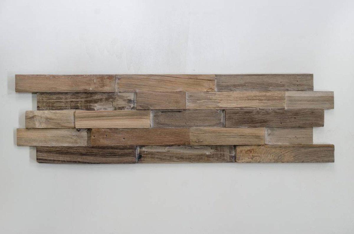 Plakhout - Houtstrip 3D Woodpanel Lock Smoke Geen FSC! kopen