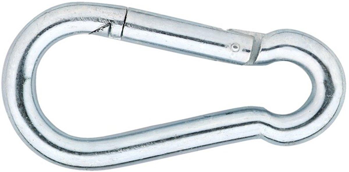 Dulimex Karabijnhaak 248-05E C-DIN 5299 verzinkt 50 x 5mm 8000.002.4505 (Prijs per 10 stuks)