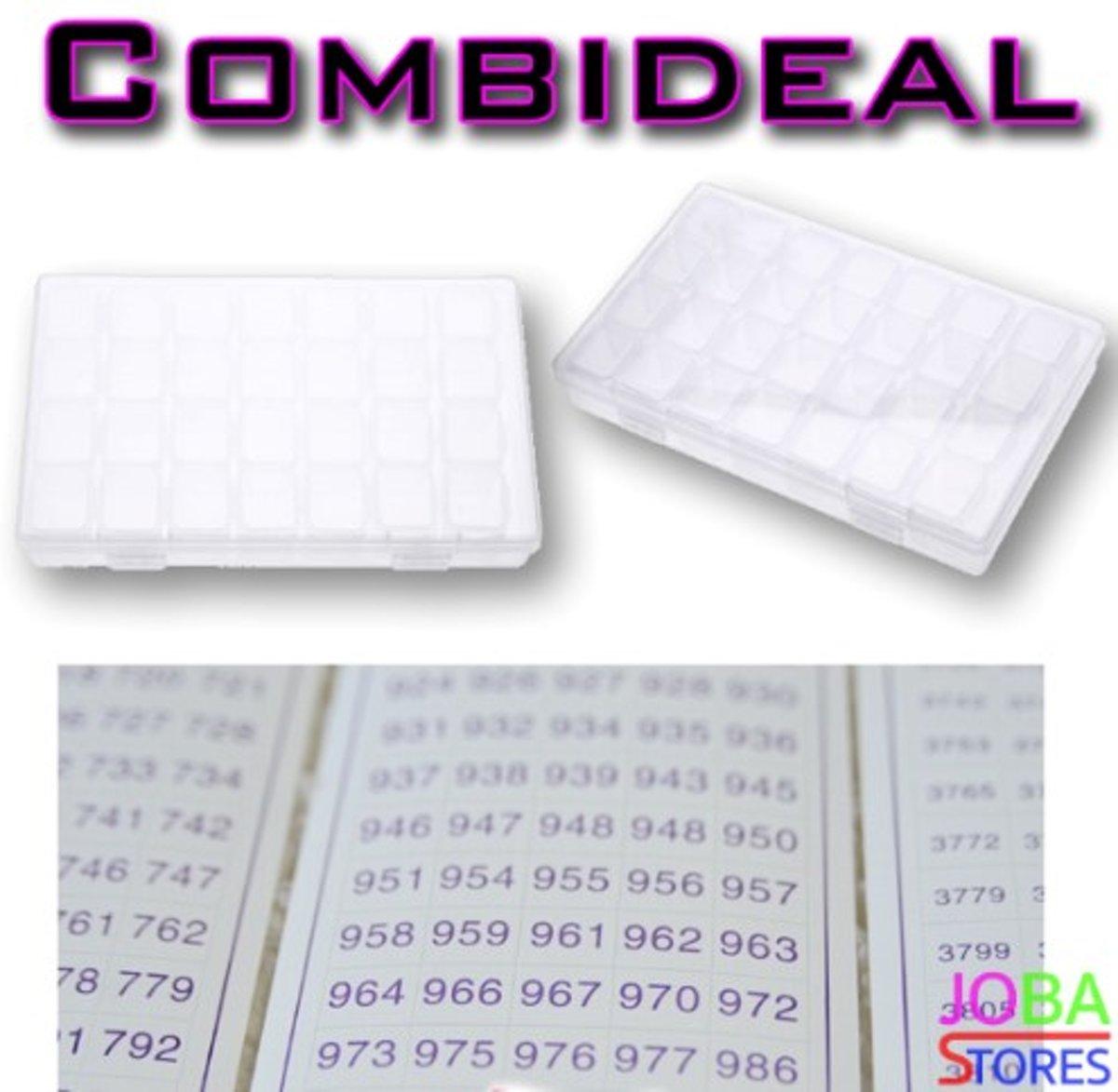 """Diamond Painting """"JobaStores®"""" Sorteerdoos Combideal 28 slots (2 stuks + DMC stickers) kopen"""