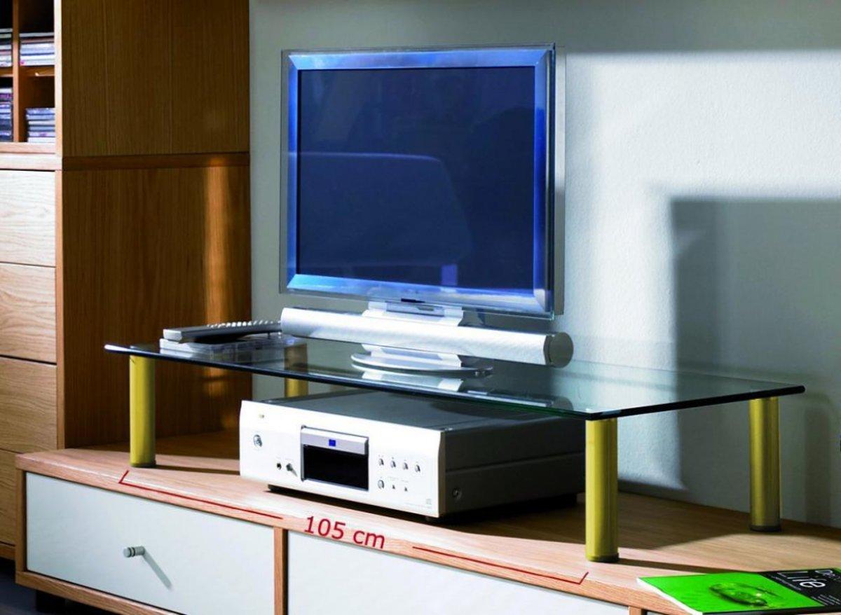 TV meubel - beeldscherm / monitor verhoger Felino Maxi messing kopen