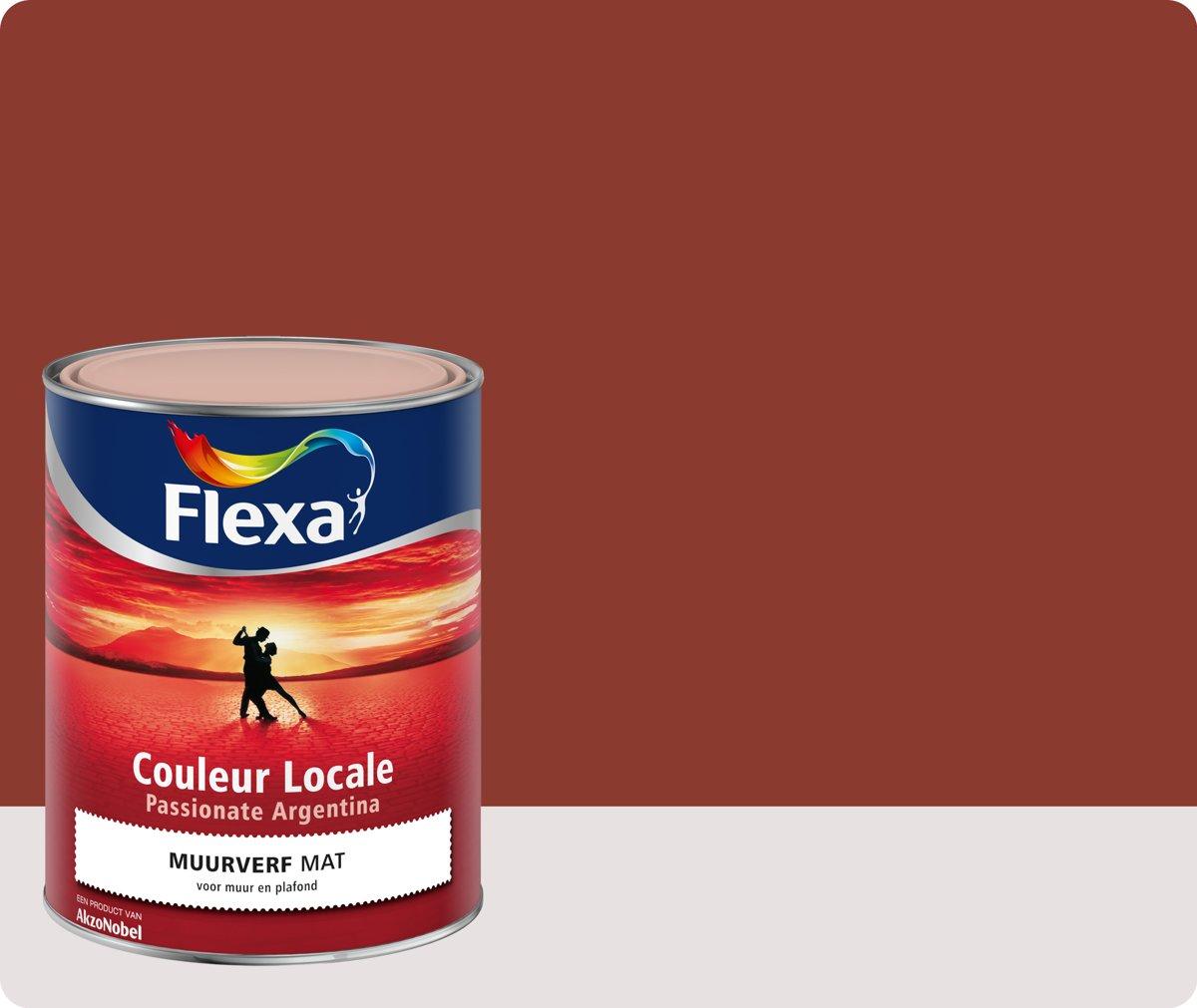 Flexa Couleur Locale - Muurverf Mat - Passionate Argentina Kiss  - 9045 - 1 liter