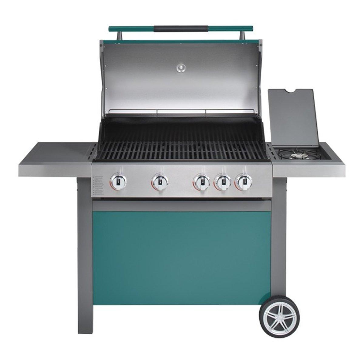 Jamie Oliver Home 4 + Sideburner Gasbarbecue - 4 branders - Groen kopen