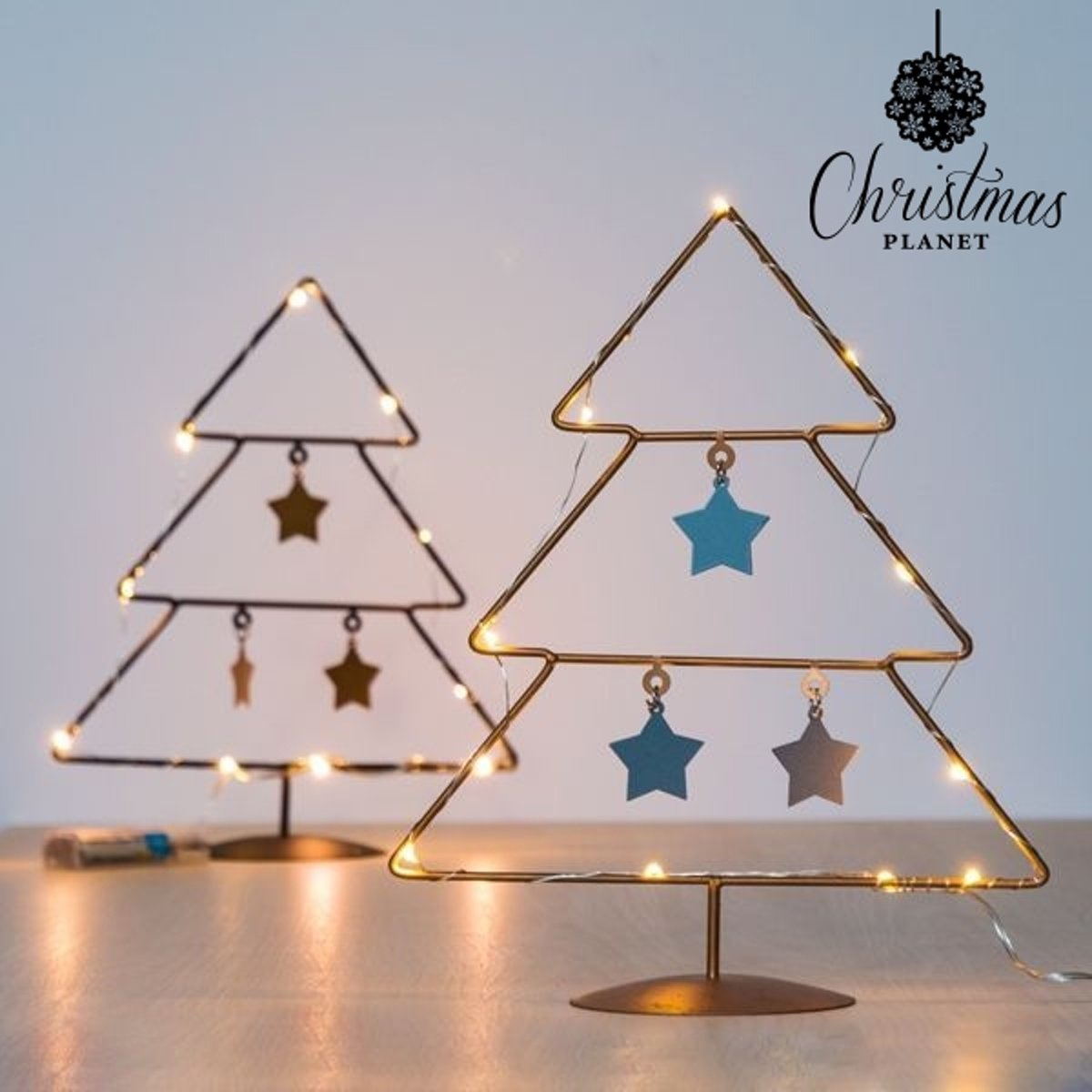 Kerstboom met Sterren en LED licht - (10 LEDs)