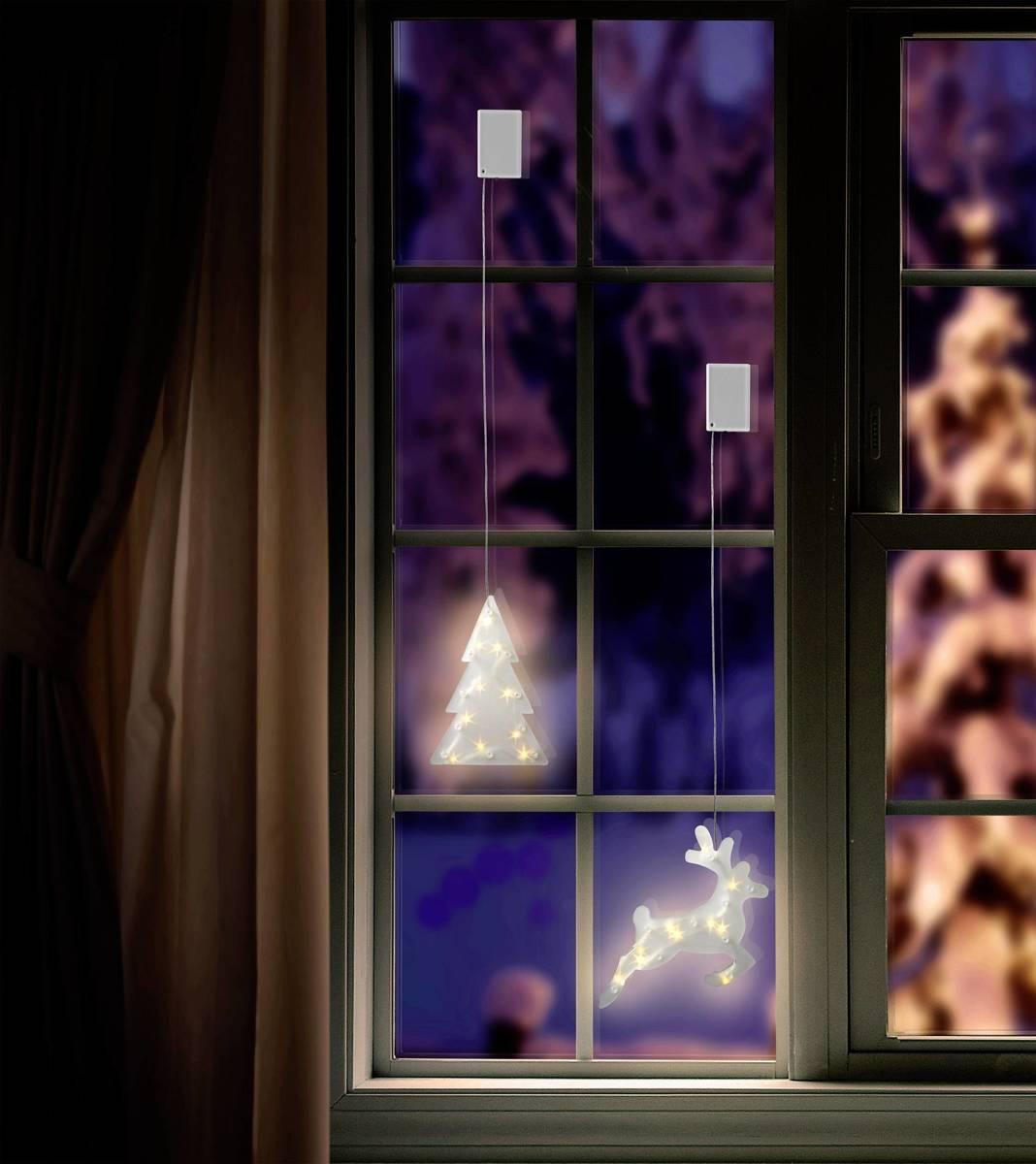 Raamdecoratie Kerstboom Warm-wit LED Transparant Polarlite LBA-50-020 kopen