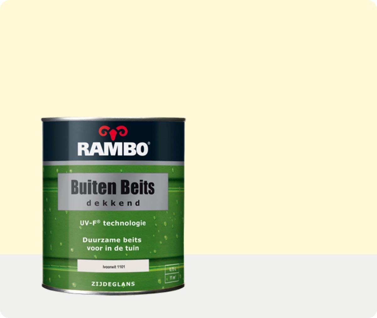 Rambo Buiten Beits Dekkend - 0,75 liter - Ivoorwit