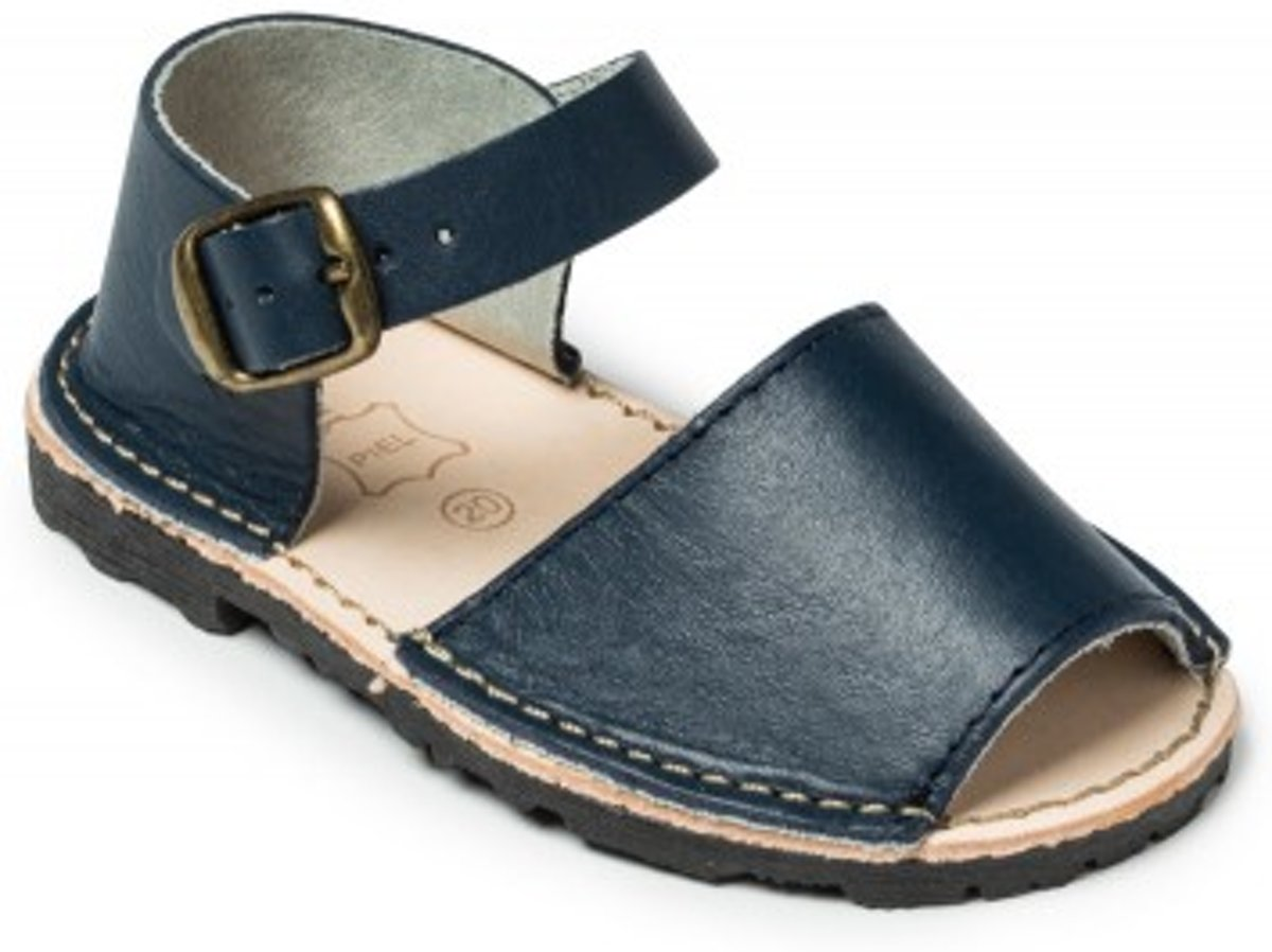 Menorquina-espagnol-sandales Avarca Sangle Enfant Talon Noir Taille 19 hA29VxKES