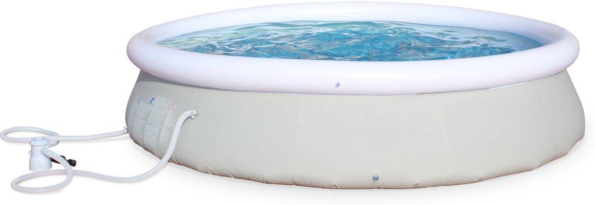 Opblaasbaar zwembad, rond 360 x 76 cm, met filtratie pomp
