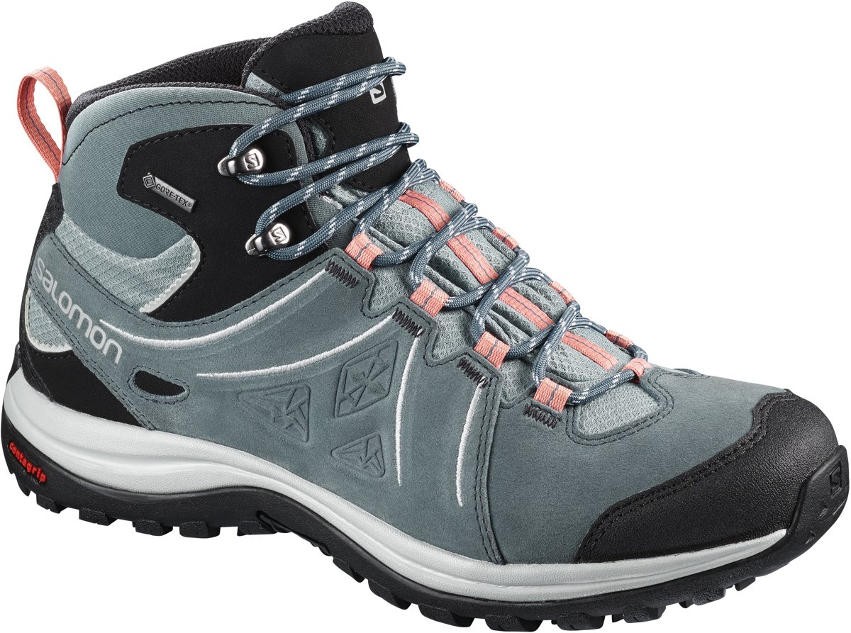 Salomon ELLIPSE 2 MID LTR GTX® Wandelschoenen Dames Lead Stormy Weather Coral Almond