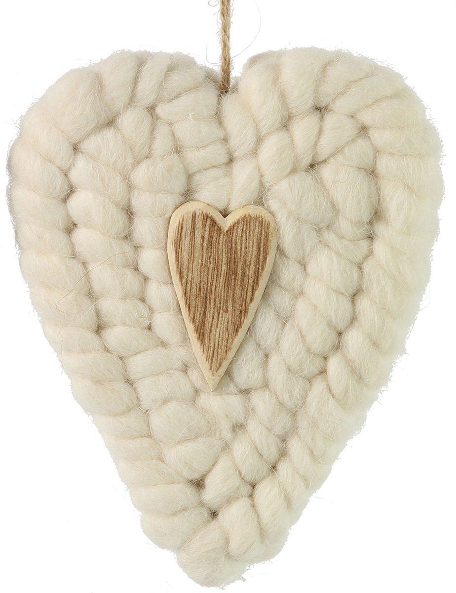 Gebreide Hanger Hart Wit kopen