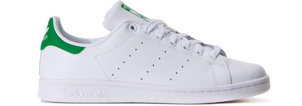 7e5cc2ba308 bol.com | adidas Stan Smith - Sneakers - Unisex - Wit/Groen - Maat 44 2/3