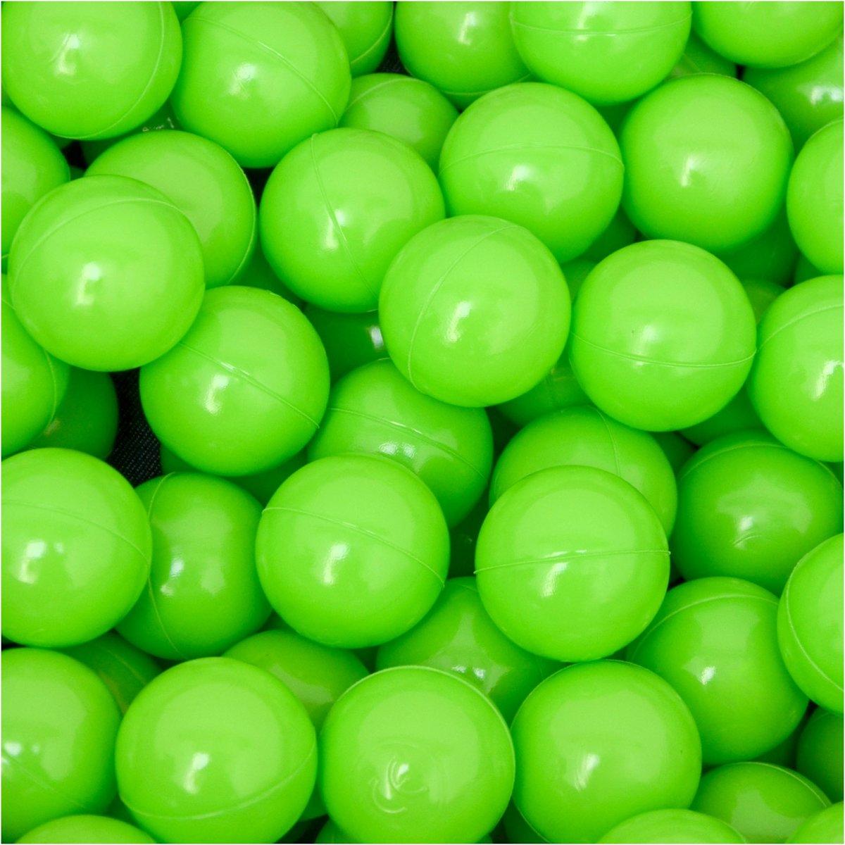 50 Babybalballen 5,5 cm Kinderballen Balbadje Kunststofballen Babyballen Groen