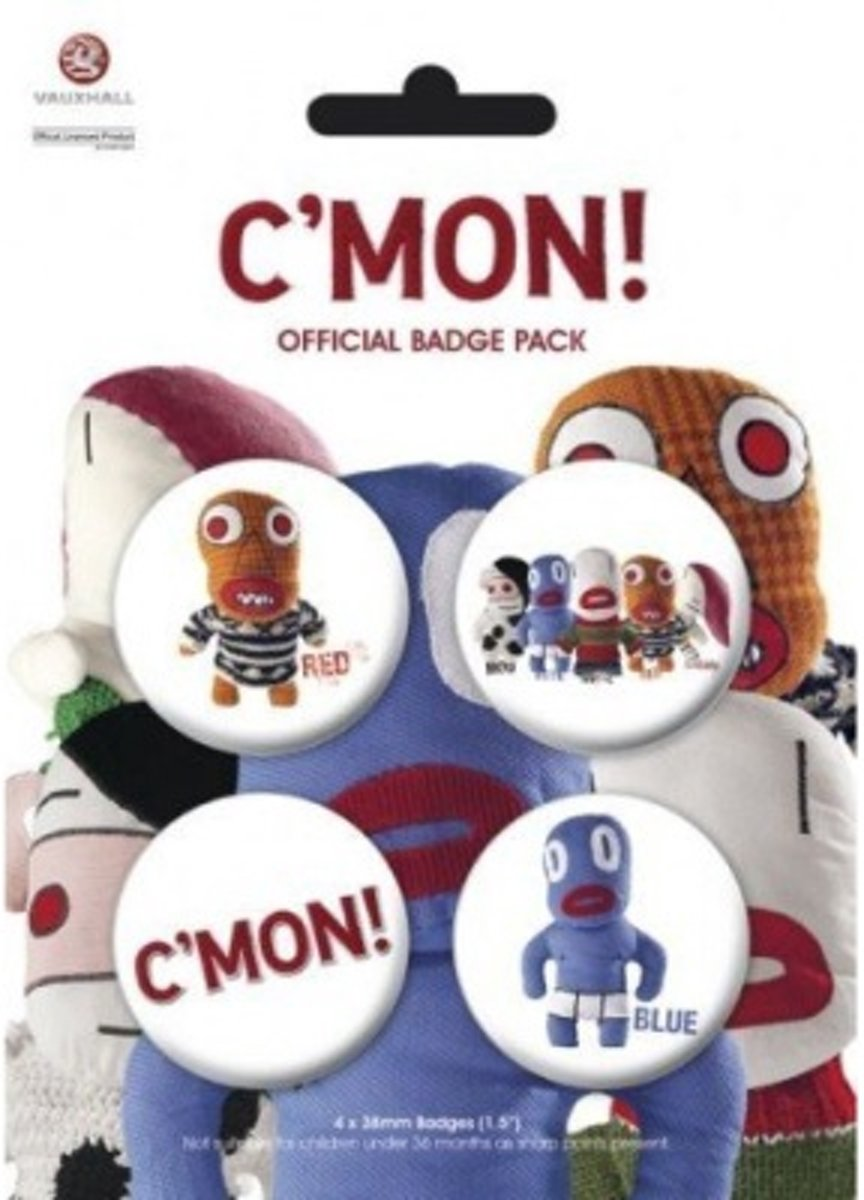 C'Mon Buttons - Official Badge Pack