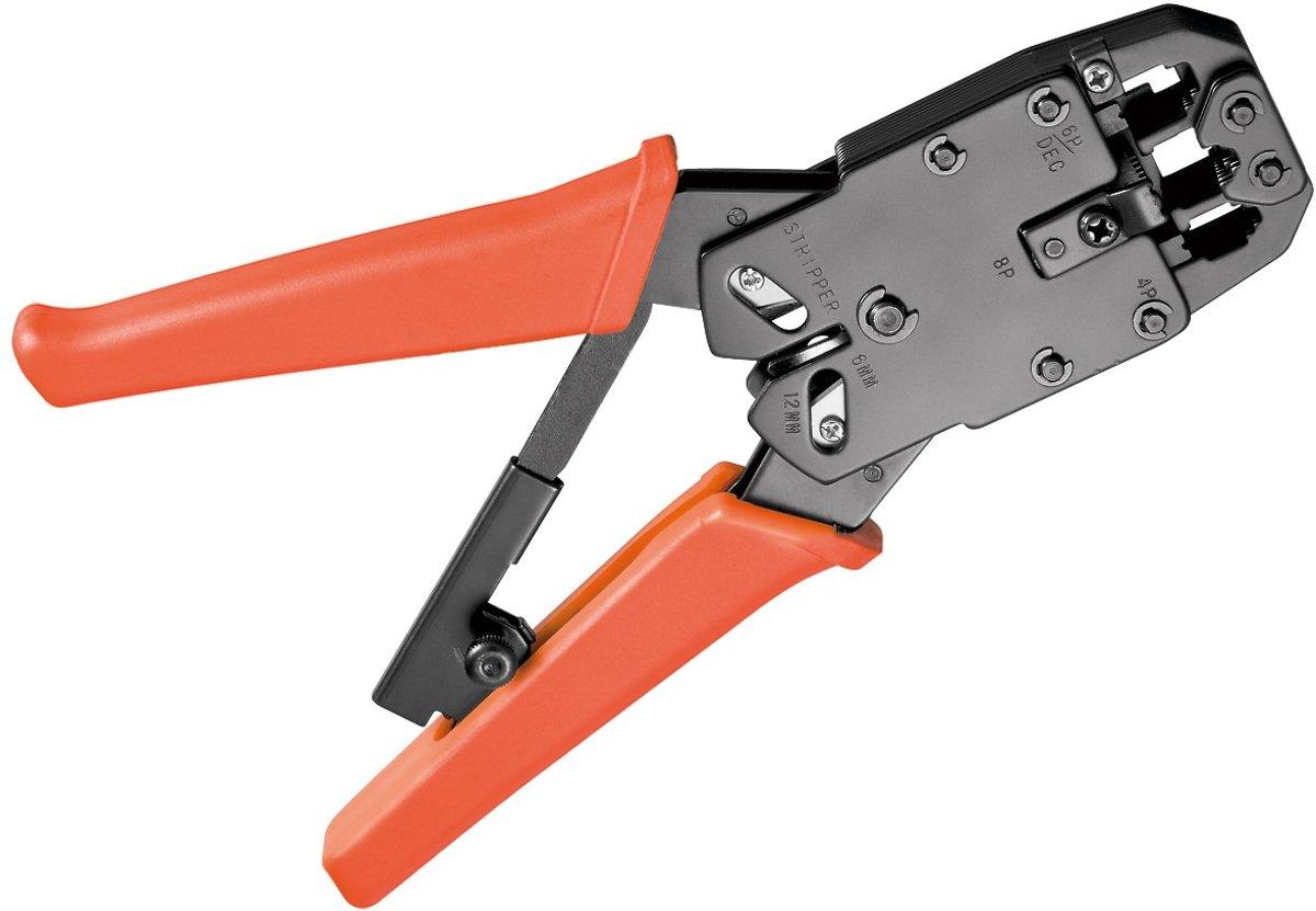 Fixpoint Krimptang met ratel voor RJ10, RJ11, RJ12 en RJ45 connectoren kopen