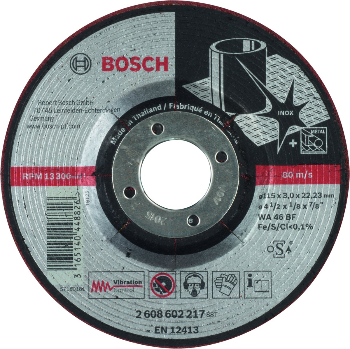 Bosch - Semiflexibele afbraamschijf WA 46 BF, 115 mm, 22,23 mm, 3,0 mm kopen