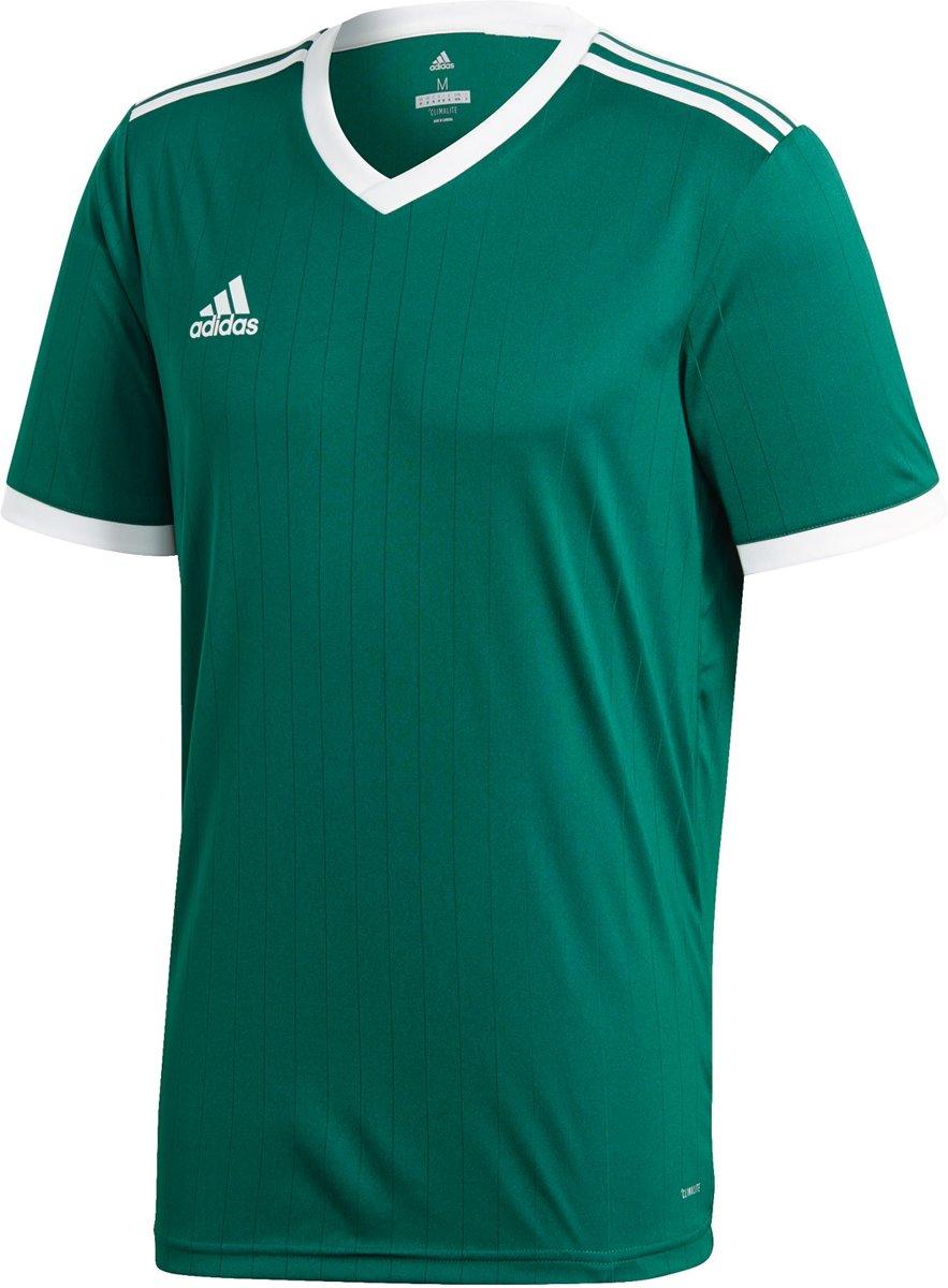 adidas Tabela 18 SS Jersey Teamshirt Heren Sportshirt Maat L Mannen groen