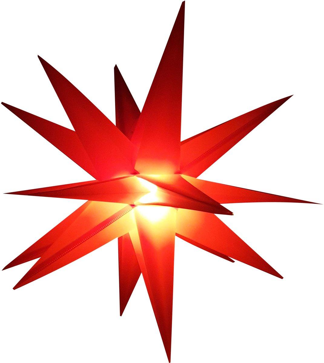LED Kerstster rood, Adventster, kerstverlichting voor buitengebruik kopen