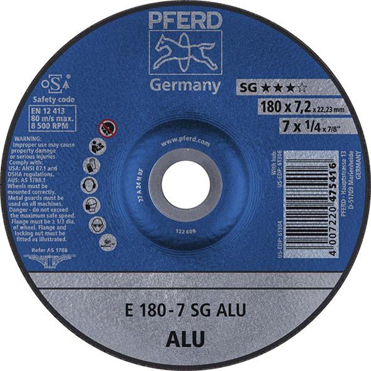 Slijpschijf voor aluminium A24 NSG, haaks gebogen 125-7,2mm Rüggeberg kopen