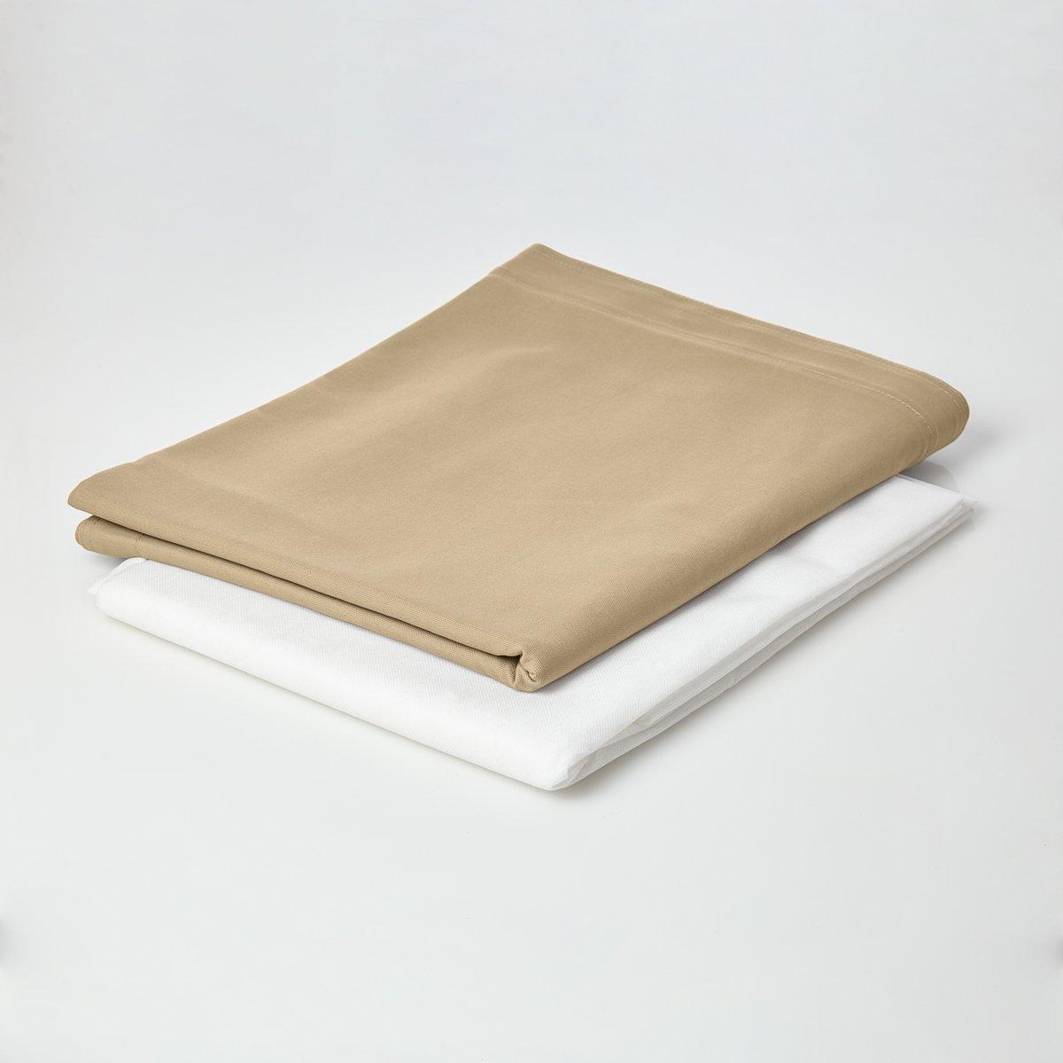 Lumaland - Hoes van luxe XXL zitzak - enkel de hoes zonder vulling - Volume 380 liter - 140 x 180 cm - gemaakt van 100% katoen - Beige kopen