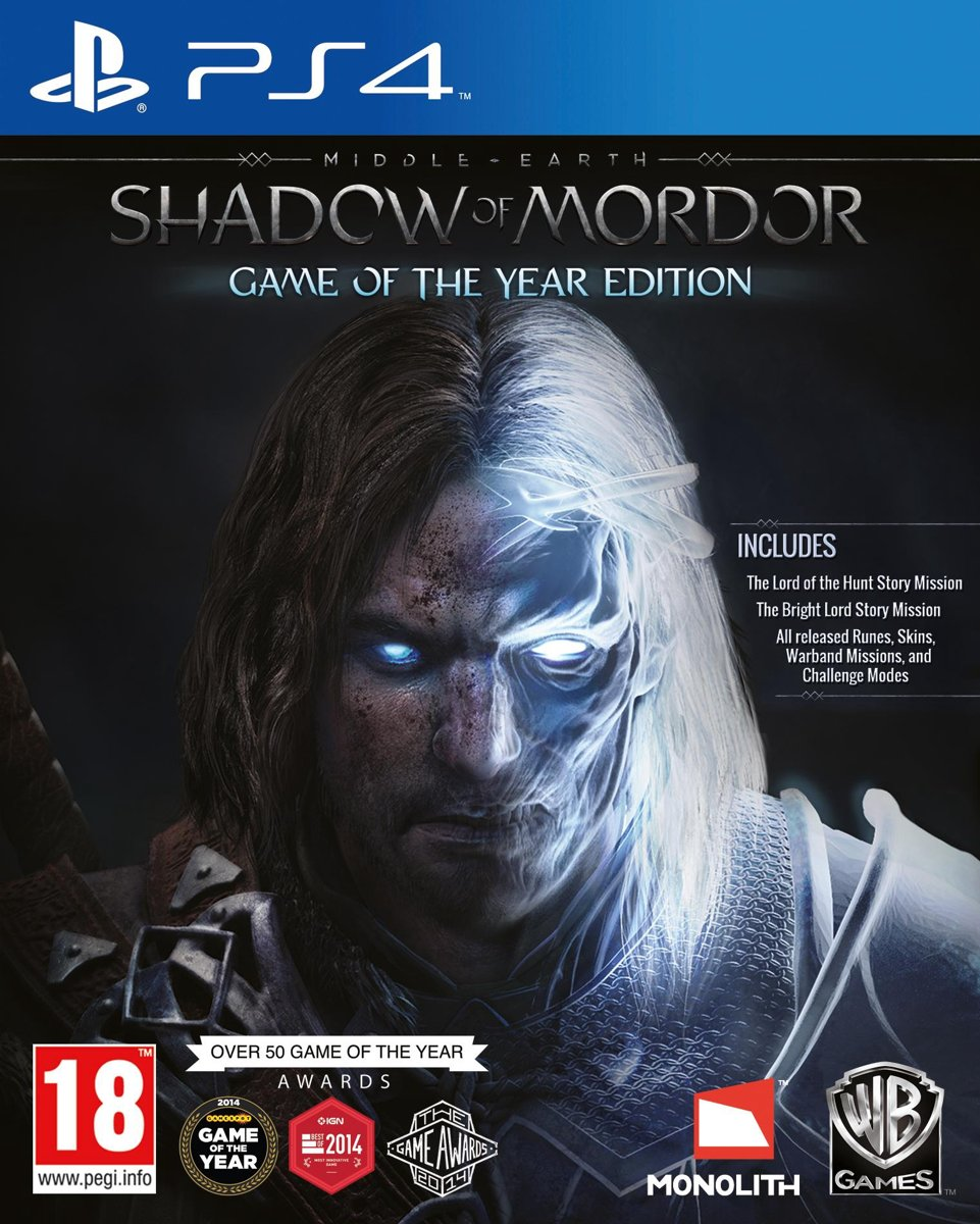 Middle-Earth: Shadow Of Mordor - Game Of The Year Edition PlayStation 4