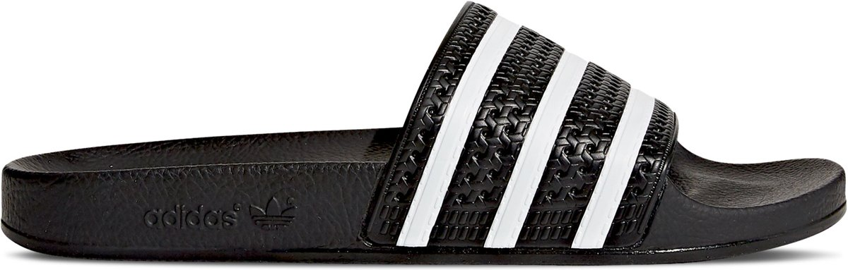adidas Adilette Slippers Unisex - Core Black/White/Core Black - Maat 47 1/3 kopen