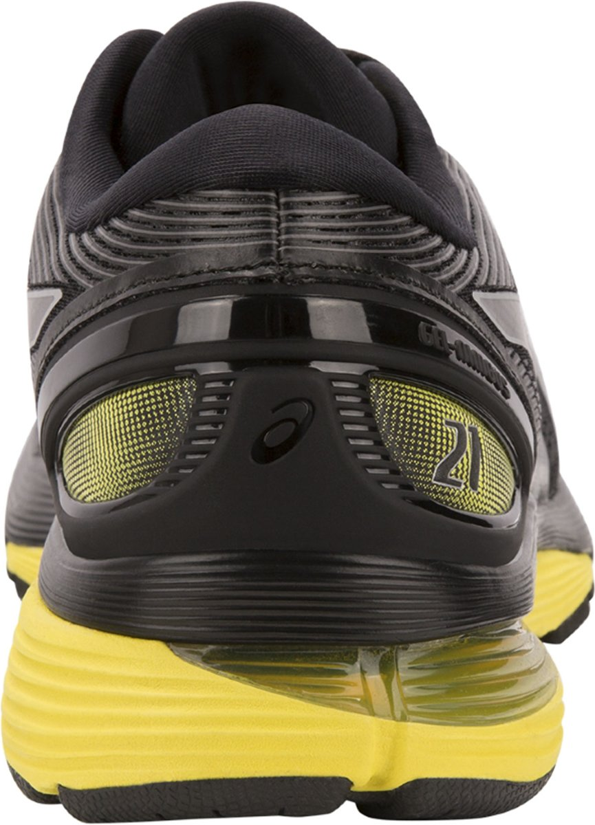 asics Gel Nimbus 21 Schoenen Heren, blacklemon spark