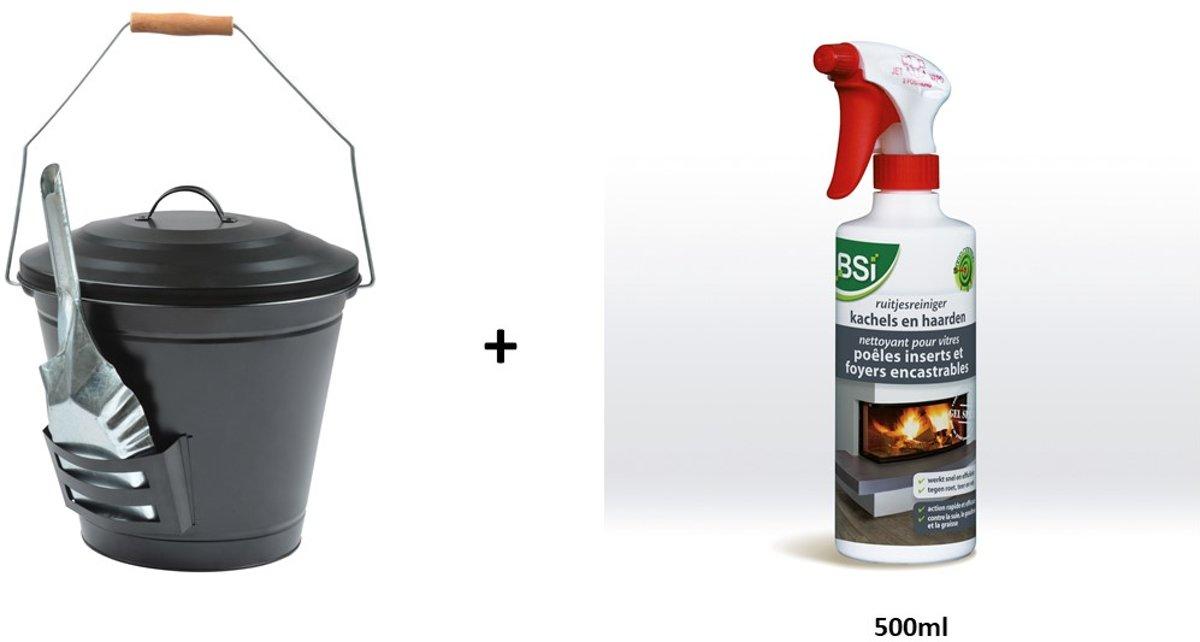 Esschert as emmer + kachel- en ruitjesreiniger 500ml kopen