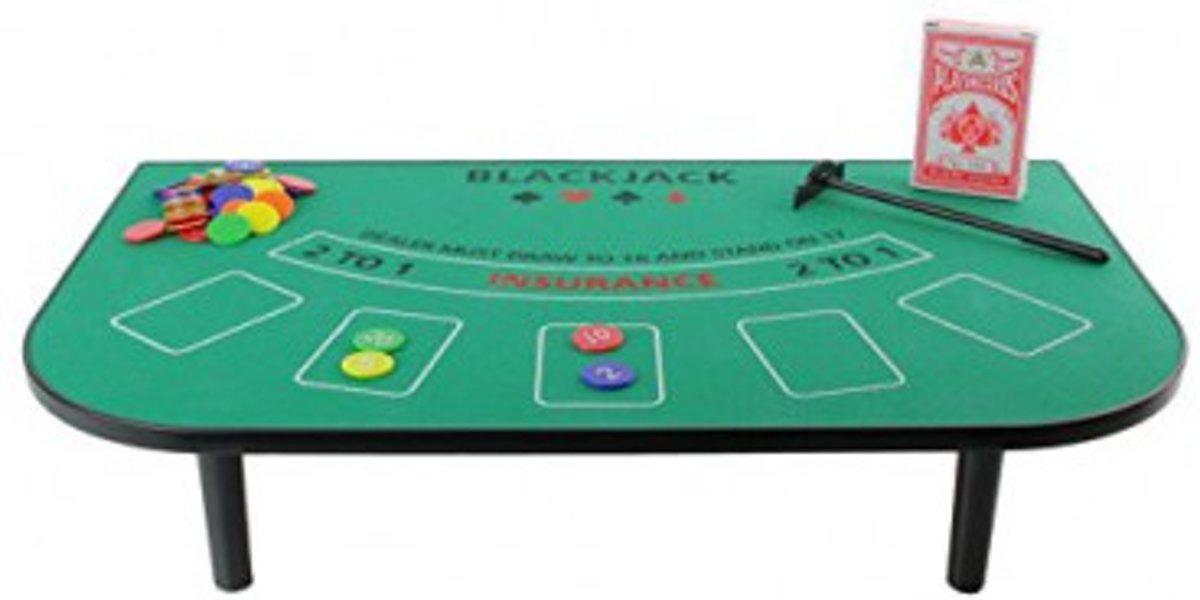 Roulette Tafel Te Koop.Bol Com Casino Blackjack Tafel Spel Set Met Kleed Speel Fiches