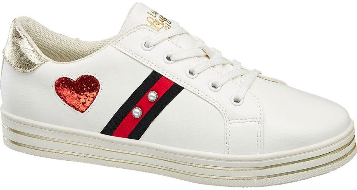 Graceland Kinderen Witte sneaker vetersluiting - Maat 36 kopen