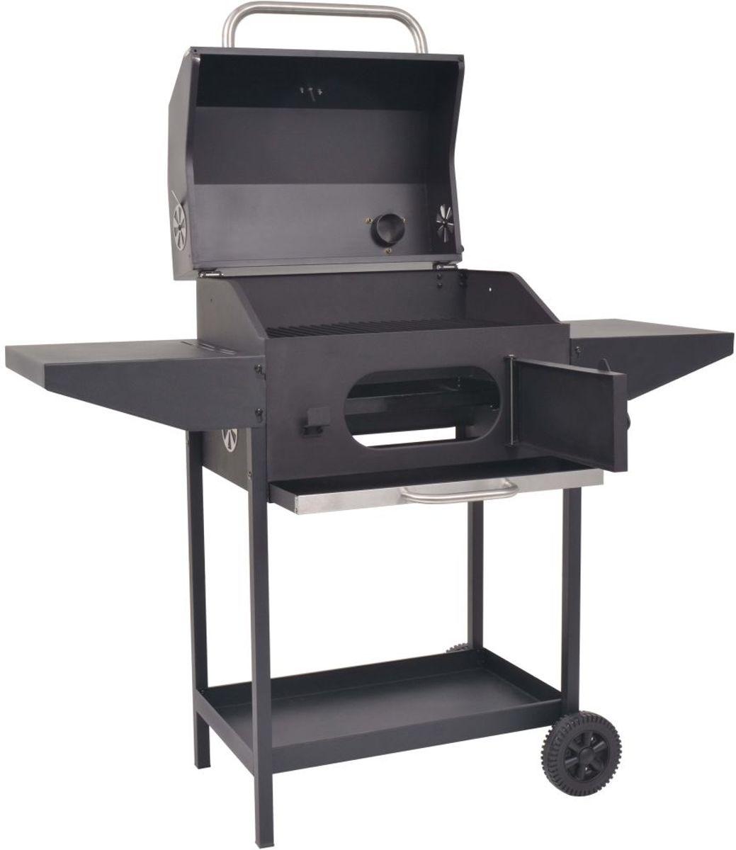 Barbecue Houtskool met Wielen en onderplank / Houtskool BBQ / Barbeque met wielen kopen