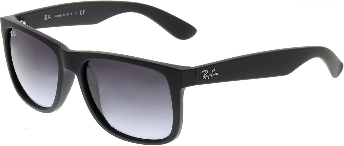 Ray-Ban Justin RB4165 Zonnebril - Rubber Black/ Poly Grey Gradient - Medium kopen