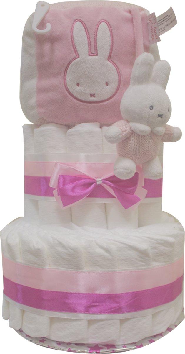 Luiertaart / Pampertaart Nijntje 2 lagen maat 2 (4-8kg) kraamcadeau - geboorte - babyshower